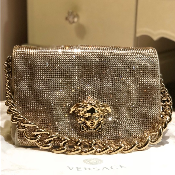 1f5254a7b31e Versace crystal Medusa evening sultan bag. M 5ad6bad684b5cec2a54d44c8